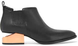 Alexander Wang - Kori Leather Ankle Boots - Black $595 thestylecure.com
