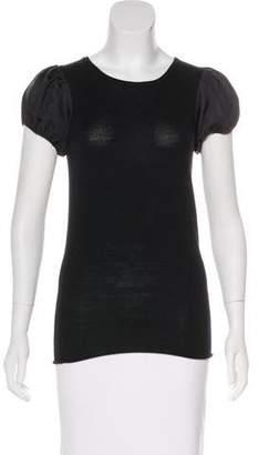 Alice + Olivia Wool Short Sleeve Top