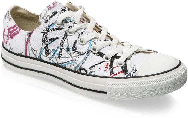 Converse Paint Splash Print Shoes