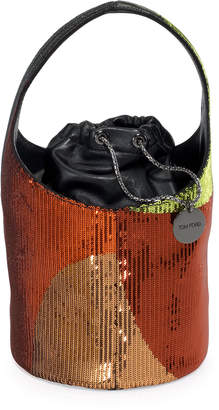 Tom Ford Miranda Medium Sequined Hobo Bag