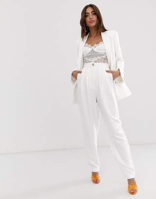Asos Design DESIGN high waist extreme tapered suit pants