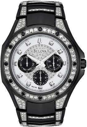 Bulova 43mm Men's Crystal Bracelet Watch