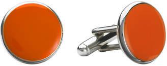 Asstd National Brand Round Enamel Inlay Cuff Links