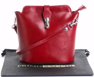 Primo Sacchi Italian Smooth Leather Hand Made Cross Body or Shoulder Bag Handbag. Includes a Branded Protective Storage Bag