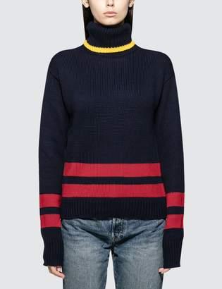 Polo Ralph Lauren Roll Neck Stripe Knit Pullover