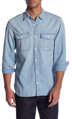 Current/Elliott Solid Chambray Classic Fit Shirt