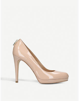 MICHAEL Michael Kors Antoinette patent leather heeled courts