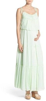 Women's Fillyboo 'Songbird' Popover Maternity/nursing Maxi Dress $155 thestylecure.com