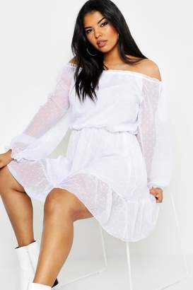 2364f014063f boohoo White Off The Shoulder Day Dresses - ShopStyle Australia