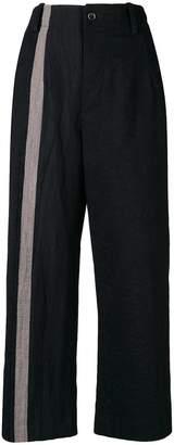 Uma Wang side panel cropped trousers