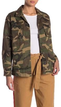 Know One Cares Camo Print Twill Jacket