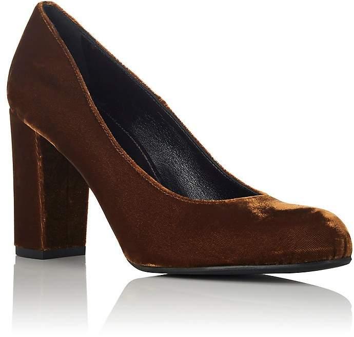 Barneys New York Women's Chunky-Heel Velvet Pumps