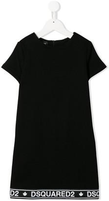 DSQUARED2 logo trim T-shirt dress