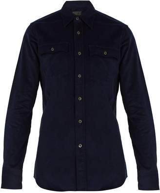 Prada Single-cuff corduroy shirt