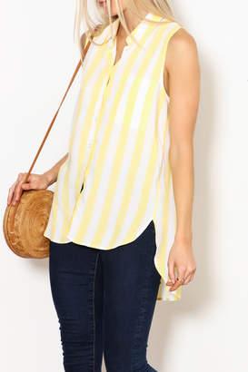 Velvet Heart Yellow Striped Top