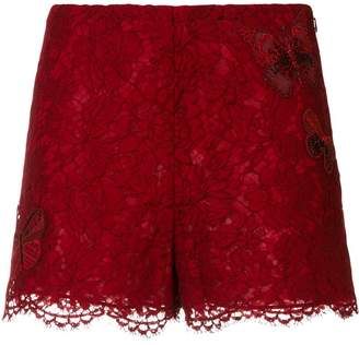 Valentino butterfly lace shorts