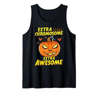 Down Syndrome Halloween Extra Chromosome Extra Awesome Tank Top