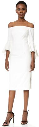 Milly Italian Cady Selena Slit Dress $485 thestylecure.com
