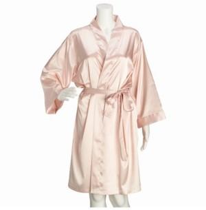 Lillian Rose Blush Satin Brides Maid Robe S/M