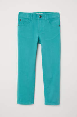 H&M Twill Pants Regular fit - Turquoise