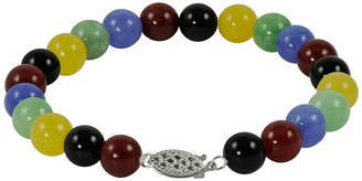 JCPenney FINE JEWELRY Multicolor Jade Bead Bracelet