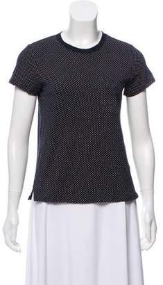 ATM Polka Dot Short Sleeve Top