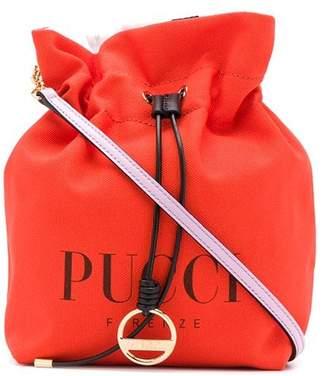 Emilio Pucci Orange Canvas Logo Mini Bag