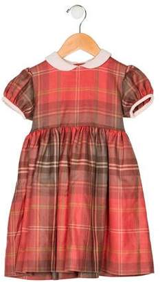 Papo d'Anjo Girls' Plaid A-Line Dress