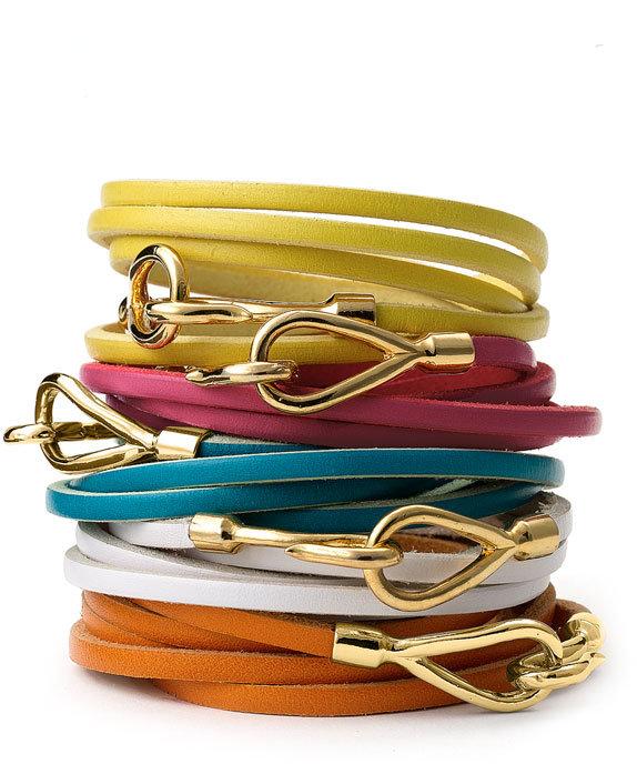 Cara Couture Leather Wrap Bracelet
