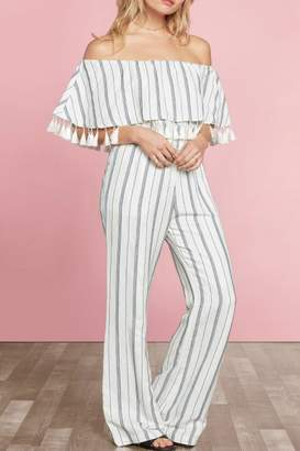 Willow & Clay Miki Striped Jumpsuit