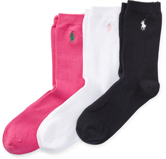 Ralph Lauren Flat-Knit Crew Sock 3-Pack