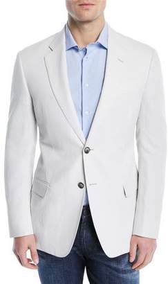 Emporio Armani Solid Lyocell/Linen Weave Soft Jacket