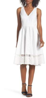 Eliza J Bow Back Eyelet Sundress (Regular & Petite)