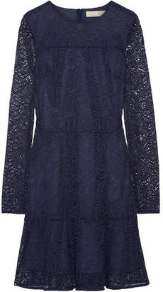 MICHAEL Michael Kors - Stretch-corded Lace Mini Dress - Navy $155 thestylecure.com