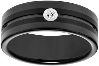 Vera Wang Simply Vera Black Tungsten Carbide Men's Wedding Band