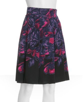Elie Tahari purple floral silk 'Samantha' skirt