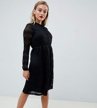 Yumi Petite shirt dress in lace