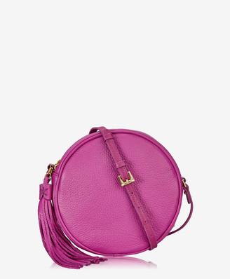 GiGi New York Zoey Crossbody, Azalea Pink Pebble Grain Leather