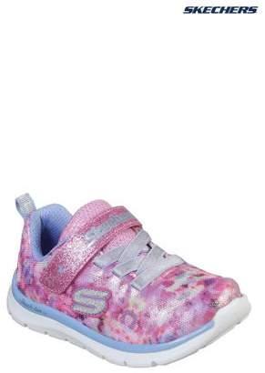 Next Girls Skechers Pink Skech Lite Blossom Cutie Floral Camo Sneaker