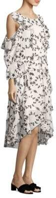 Joie Alpheus Contrast Eyelet Midi Dress