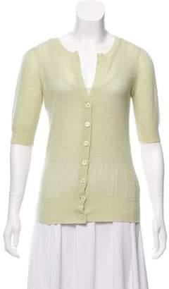 Diane von Furstenberg Short Sleeve Cashmere Cardigan