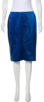 Dolce & Gabbana Silk Pencil Skirt