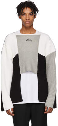 A-Cold-Wall* Black and Grey Panelled Crewneck Sweater