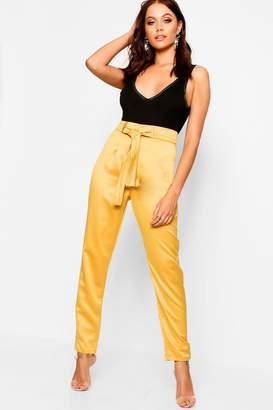 boohoo Woven Satin Slimline Pants