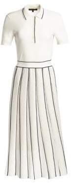 Loro Piana Lipsi Cashmere Silk Polo Midi Dress