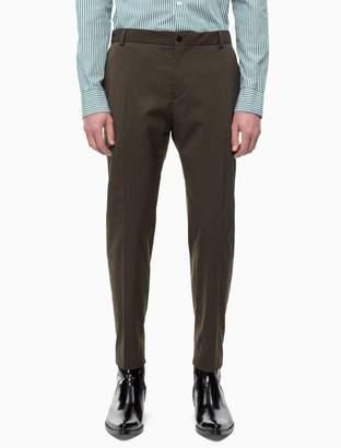 Calvin Klein fitted wool blend gabardine pants