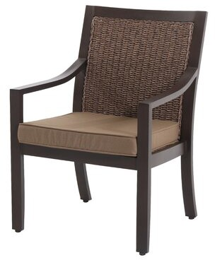 Royal Garden Biscarta Patio Dining Chair with Cushion (Set of 2) Royal Garden