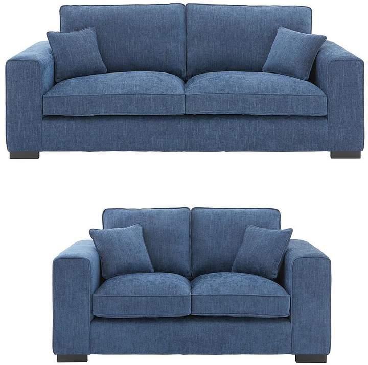 Ideal Home Darwin 3 Seater + 2 Seater Fabric Sofa Set