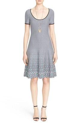 Women's St. John Collection Mosaic Jacquard Knit Dress $995 thestylecure.com