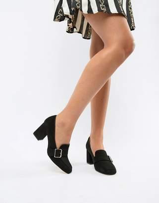 London Rebel Heeled Loafer Shoes